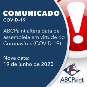 ABCPaint altera dada de assembleia em virtude do Coronavírus (COVID-19)